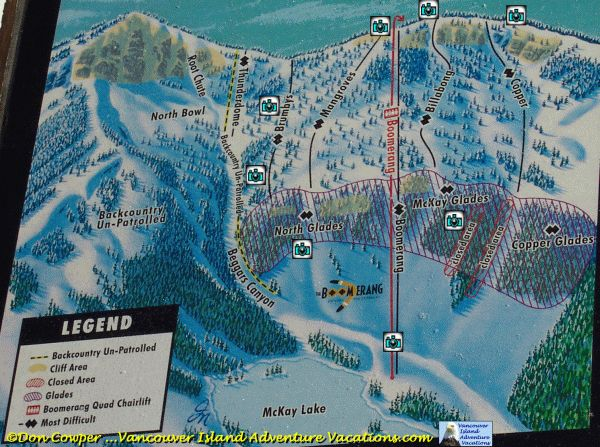 Interactive Trail Map - Boomerang Chair - Mt. Washington