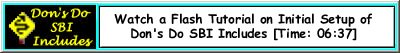 Flash Movie Showing How to Initialize Don's Do SBI Includes